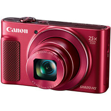 Canon PowerShot SX620 HS 20.2MP Digital Camera, 25x Optical Zoom & Wi-Fi - Red