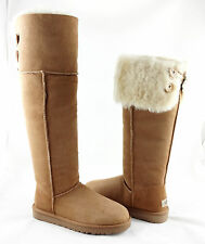 UGG Bailey Button Over the Knee Chestnut Brown Boots Size 9 *NEW IN BOX*
