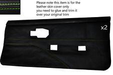 Green stitch 2 cartes de porte avant pleine en cuir couvre fits PONTIAC FIREBIRD 90-92