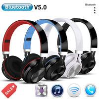 Wireless Bluetooth Headphones Foldable Stereo Earphones Super Bass Headset Mic U