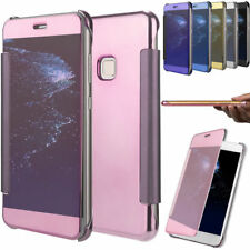 Luxury Mirror Smart Clear View Flip Hybrid Case Cover For Huawei P10 P9 P8 Lite