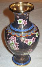 """Antique/Vintage Chinese China Enameled Vase  - Cloisonne/Flowers - 8 1/2"""" Ht, #1"""