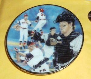 1992 GARTLAN USA CARLTON FISK MINI BASEBALL PLATE 7227 RED WHITE SOX HOFER