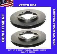 Set Of Front Disc Brake Rotors Honda Accord 1990-1997 , Acura CL 1997 4 Cylinder