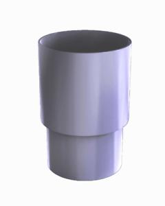 Rohrmuffe aus PVC grau zum Stecken