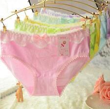 4 Pcs Pack Lace Bowknot Cotton Girl Women Briefs Panties Underpants Underwear XL