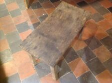 """Elm Milking Stool Bench Sidetable Coffee Table Vintage H15.5"""". Top 24"""" By12"""""""