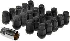 82-02 CAMARO FIREBIRD TA LUG NUTS MATTE FLAT BLACK ACORN DESIGN STYLE 711-335C