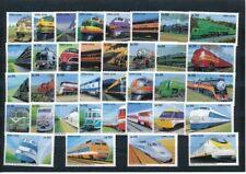 Eisenbahn, Train,  36 Marken aus Sierra Leone, postfrisch, mint,   (MO3)