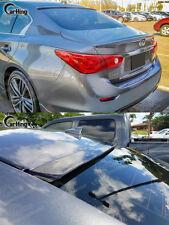Painted F-Design For 2014+ INFINITI Q50 V37 Sedan 4DR Roof  Window Visor Spoiler