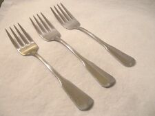 Oneida Deluxe Distinction COLONIAL ARTISTRY  Three SALAD FORKS Satin
