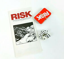 Risk Board Game Parker Brothers Replacement Territory Cards Dice & Instructions