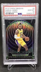 2019 Panini Obsidian Tunnel Vision LeBron James 86/99 #6 PSA 10 GEM MT Lakers