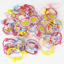 50 Lot Bulk Elastic Hair Ties Girl Kids Baby Band Accessories Free Shipping