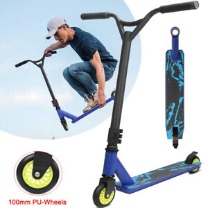 Kids Boy Adult Stunt Scooter Push Scooters City Street Trick Play Outdoor- Blue