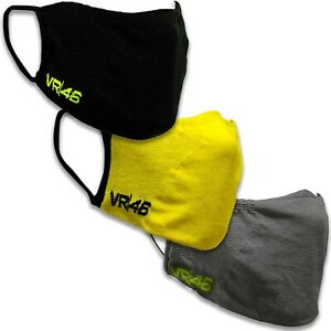 VR46 Rossi Protective Face Covering Mask Double Layer Washable Reusable Cover