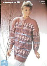 """Original SIRDAR Knitting Pattern 8546 - Ladies DK Flower Motif Jacket 30""""-40"""""""