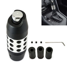Alloy Aluminum Automatic Car Gear Stick Shift Shifter Lever Knob Black+3 Adapter