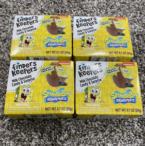 Finders Keepers Milk Chocolate Candy Eggs w/ Surprise SpongeBob Toys 4 Pack New