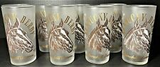 EIGHT 1964 KENTUCKY DERBY GLASSES - OFFICIAL - PERFECT CONDITION