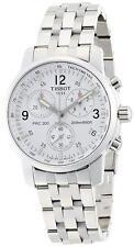 Tissot T17.1.586.32 T-Sport PRC200 Chronograph Silver Tone White Dial Mens Watch