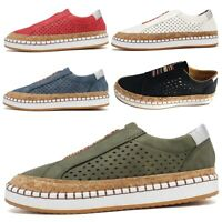 Women's Slip On Sneakers Hollow-Out Round Toe Comfortable Casual Walking Shoes
