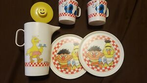 Sesame Street Vintage Chilton Globe Ware Bert and Ernie Big Bird Cookie Monster