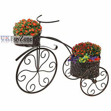 Flowers metal garden statues lawn ornaments ebay for Decoration jardin velo