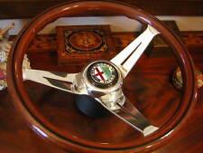 Alfa Romeo Wood Steering Wheel Spider Giulia Montreal  GTA Deep Dish NEW