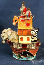 Noahs Ark Jeweled Pewter Trinket Box