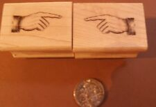 Miniature Pointing fingers both directions- 2 rubber stamps 1x0.5  P22