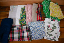 Lot 12 Vintage Wool Ticking WAVERLY Feedsack Cutter Fabric Quilting Pieces 6lbs