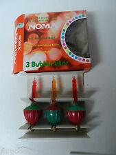 3 Vintage C-7 Noma Electric Co Christmas Bubble Light in Original Box #809