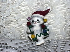 Tangled In Lights Christmas Pin Cat