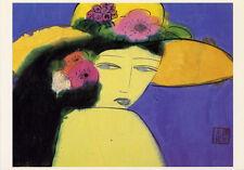 Walasse Ting≈Do You Like My HAT? 1983≈Chinese Modern Art POSTCARD 4x6