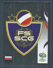 PANINI FIFA WORLD CUP-GERMANY 2006- #208-SERBIA & MONTENEGRO TEAM BADGE-FOIL