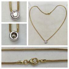 14k Collar Collar de oro ORO DE 585 0,30 ct- Cadena de oro
