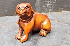"antique japanese netsuke "" The Brown Dog """