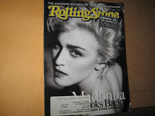 ROLLING STONE MAGAZINE OCTOBER 29 2009 MADONNA LOOKS BACK INTERVIEW JACK JOHNSON
