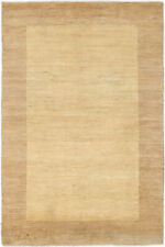 4x6 Traditional Hand-Knotted Modern Gabbeh Area L/Gold Color Turkish Rug D43118