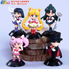 "Sailor Moon 20th Anniversary 2"" Cute Japan Anime Figure Toy Set of 5pcs NEW AU"