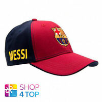 FC BARCELONA MESSI LIONEL BASEBALL CAP BURGUNDY DARK BLUE FOOTBALL SOCCER NEW
