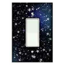 Starry Night Decorative Single Rocker / Decora Light Switch Cover - Switch Plate
