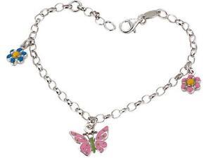 Scout Mädchen Armband Schmetterling & Blumen 260154100
