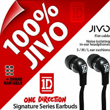 New One Direction Earbud In-Ear Headphones by Jivo for MP3 iPod iPhone 4 5S 6S