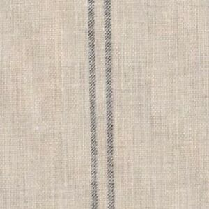 Peony and Sage The Grainsack Stripe (Skinny) Faded Charcoal on Grainsack Linen 7