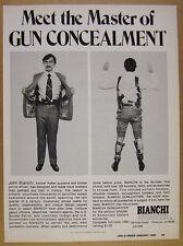 1980 Bianchi Gunleather Gun Concealment Holsters photos vintage print Ad