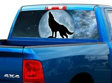 P429 Wolf Rear Window Tint Graphic Decal Wrap Back Truck Tailgate