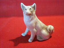 Vintage German bisque Eskimo Samoyed or Spitz dog figurine