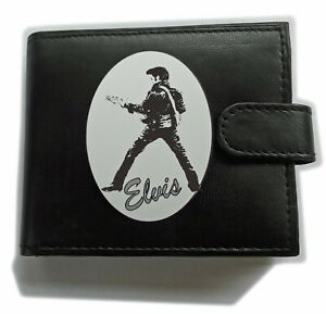 Elvis The King of Rock and Roll Anti RFID Theft Black Wallet Gift Boxed